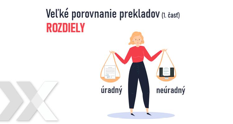Rozdiel medzi úradným a neúradným prekladom