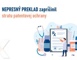 preklad patentovej prihlášky z oblasti farmácie