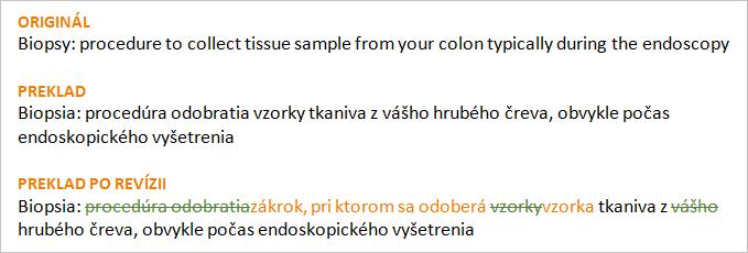 preklad s revíziou (porovnávacia korektúra)